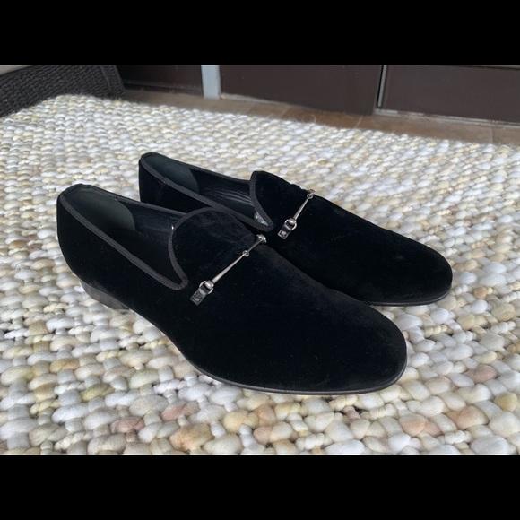 35d294ab0 Gucci Shoes | New Black Velvet Slipper Loafers | Poshmark